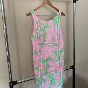 NWOT Lilly Pulitzer Limeade Cheat Ya Shift Dress